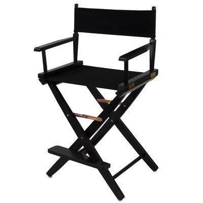 American Trail Premium Director Chair Fabric Color: Hunter Green, Frame Finish: Mission Oak