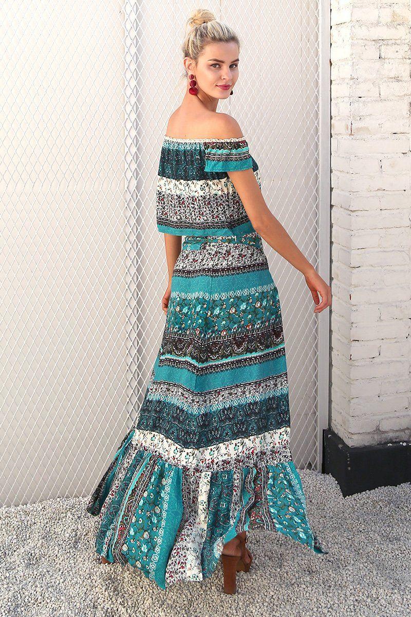 Alicia two piece maxi dress products pinterest dresses boho