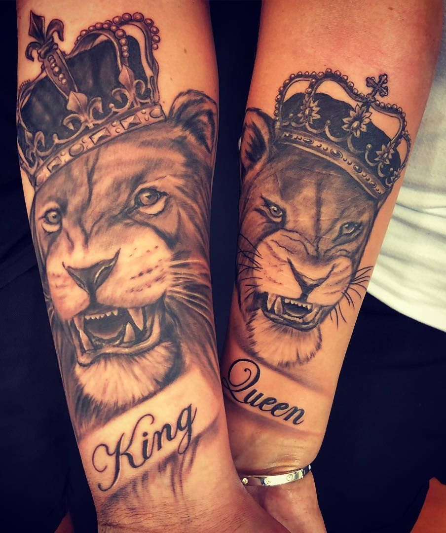 ad8da90f3 lion & lioness couple tattoo © tattoo studio My Queen Tattoo  📌💕🙊💕🙊💕🙊💕📌