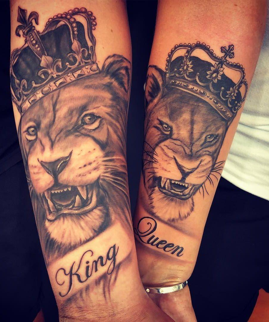 lion & lioness couple tattoo © tattoo studio My Queen Tattoo 📌💕🙊💕🙊💕🙊💕📌