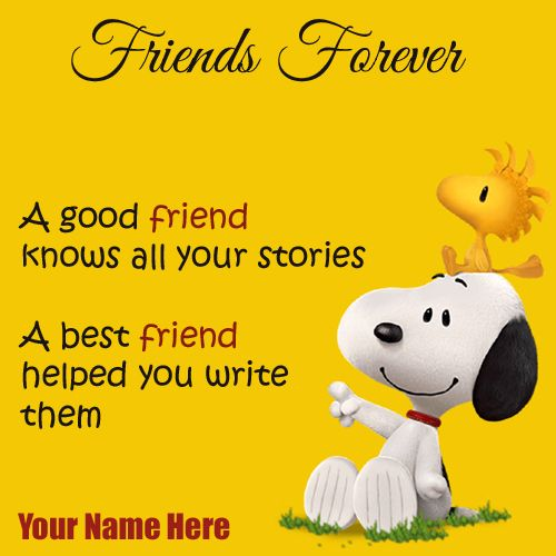 Write Name On Best Friends Forever Cute Greeting Card Create Cartoon