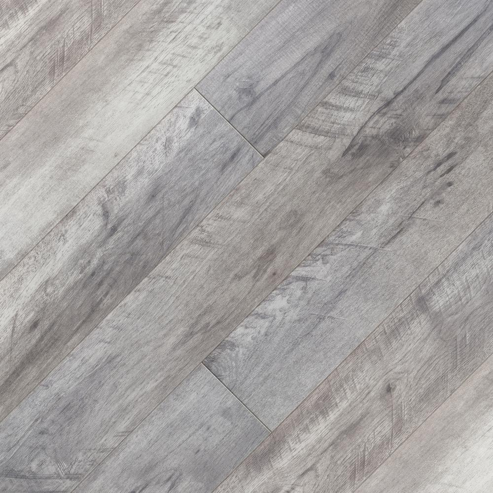 Home Decorators Collection Dowden Gray Oak 12 Mm T X 6 34 In W X 47 72 In L Water Resistant Laminate Floorin In 2020 Grey Oak Laminate Flooring Oak Laminate Flooring