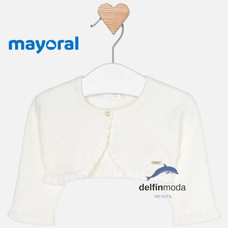 Receba corta bebe niña MAYORAL tricot color crudo  a28307e3c646