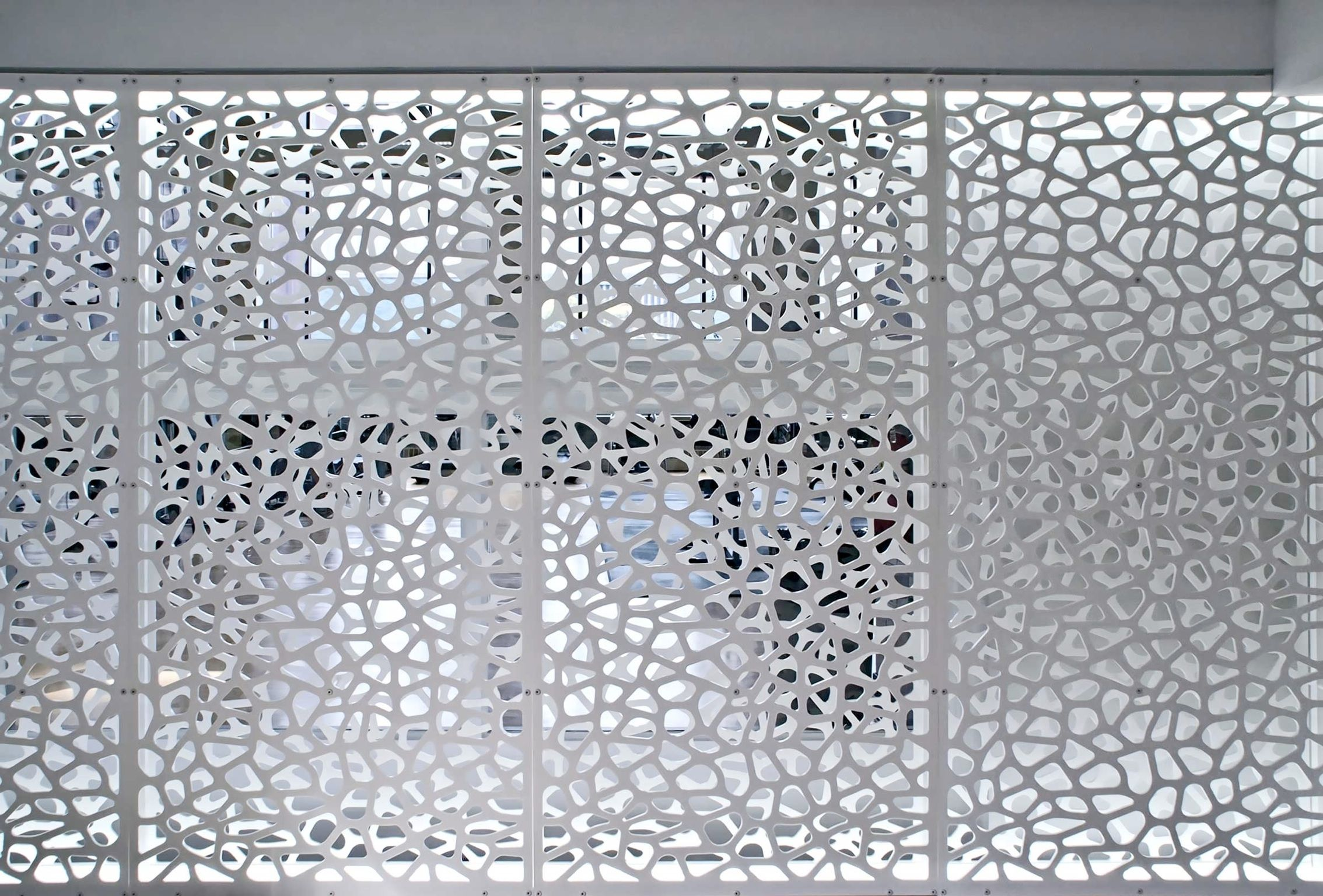 Architectural Screen Wall Partitions Decorative Screens Cell Pattern With Custom Led Lights Decorative Screens Screen Design Modern Screens