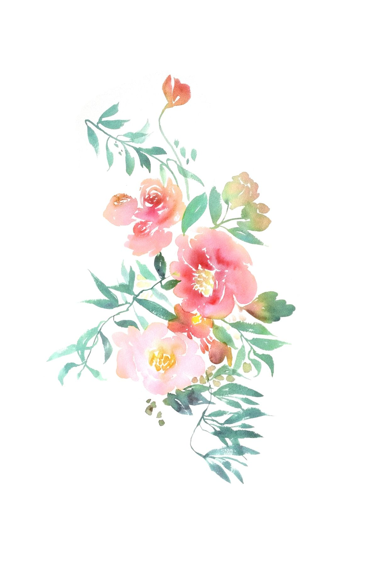 Designlovefest Com Watercolor Print Floral Watercolor