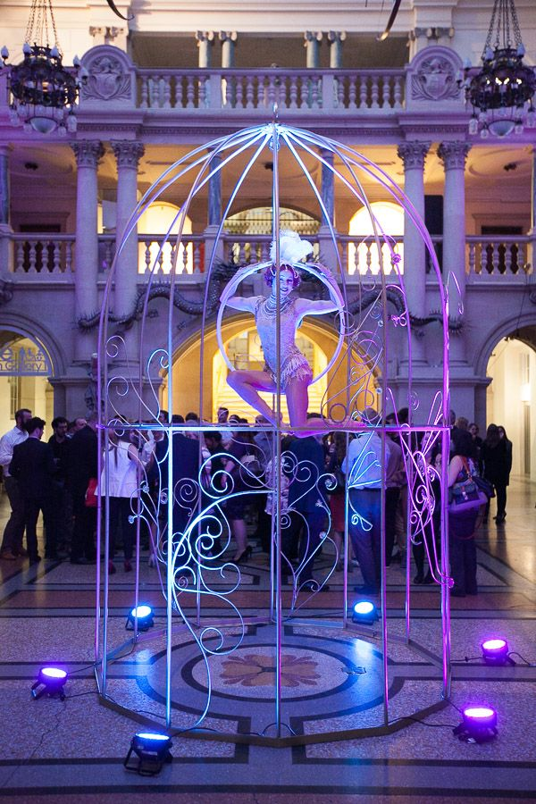 Giant Gold Birdcage Hire Image by Chris Collins