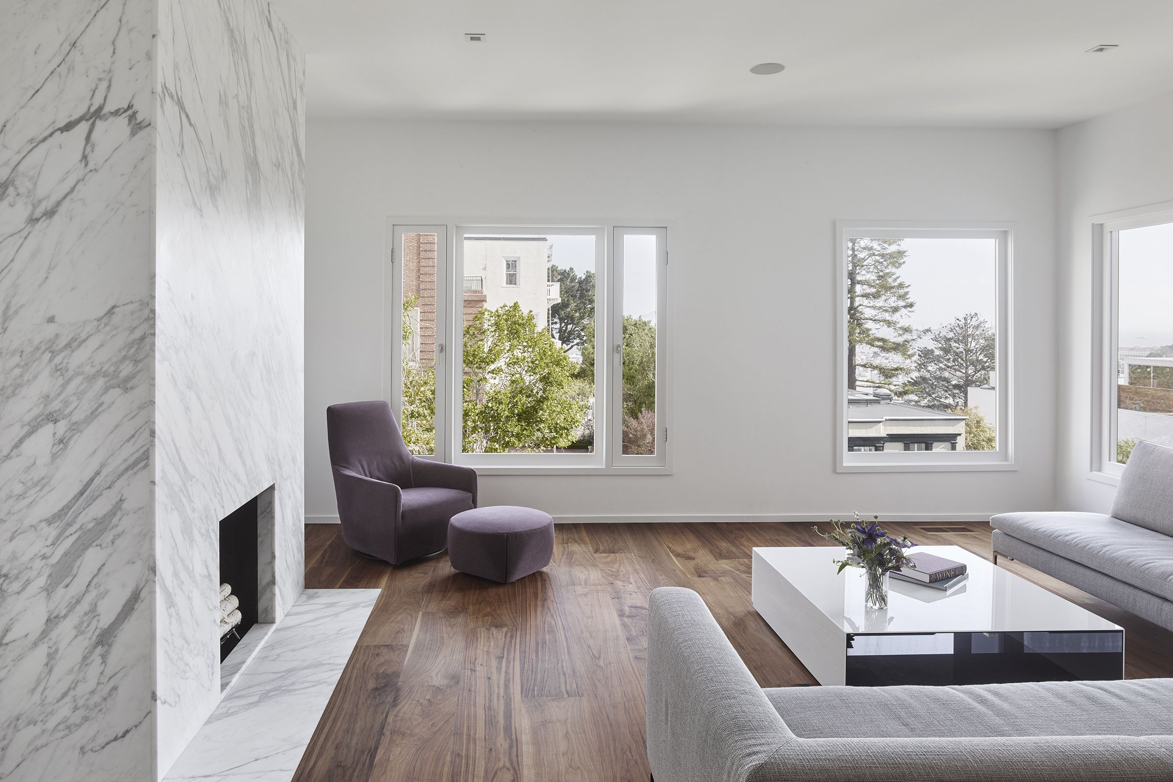 Pacific heights residence edmonds lee architects fireplaces in
