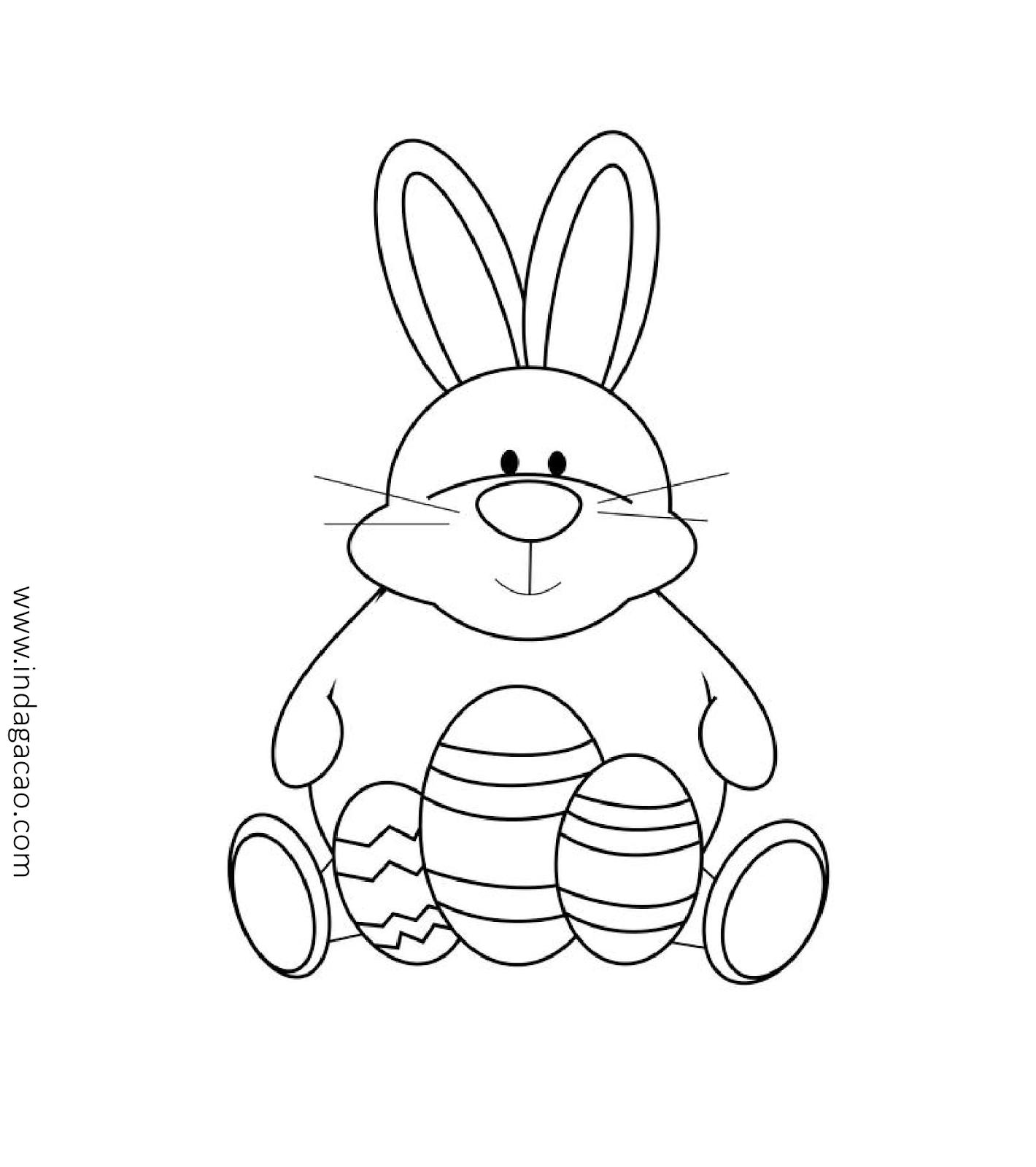 coelho da páscoa desenho colorir baixar desenhos páscoa pinterest
