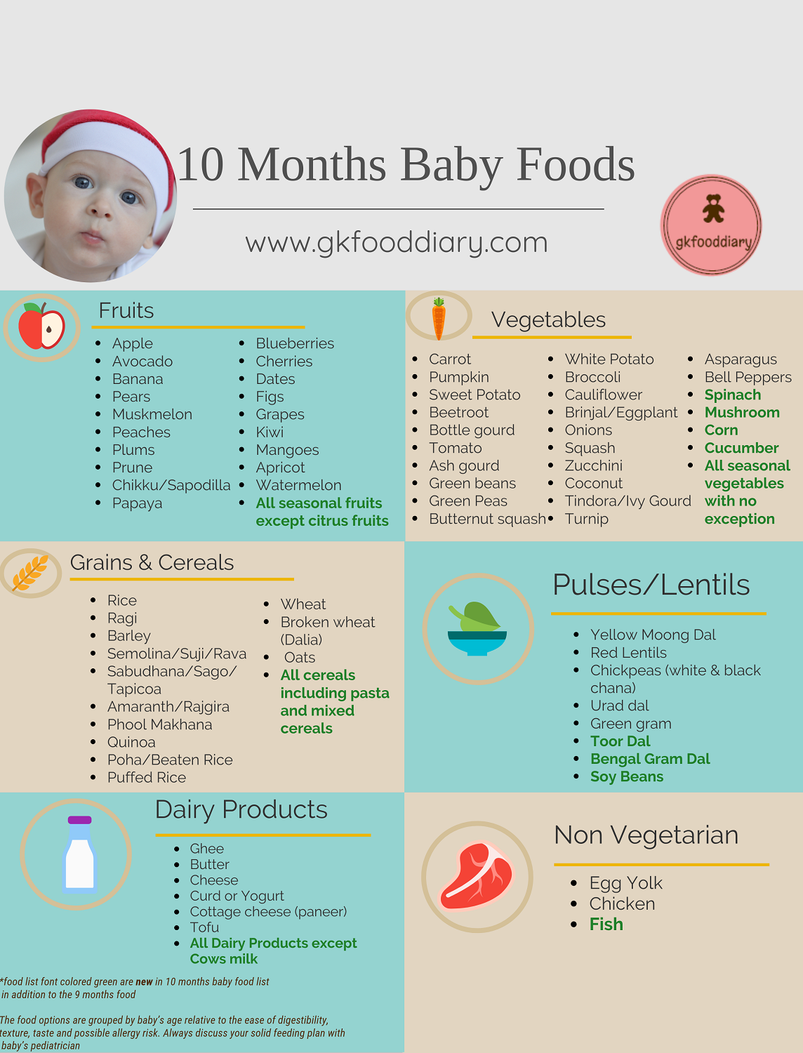 10 Months Indian Baby Food Chart Baby food recipes, Baby