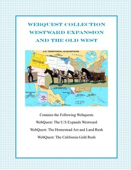 westward expansion the land rush and the gold rush a collection of webquests teaching ideas. Black Bedroom Furniture Sets. Home Design Ideas