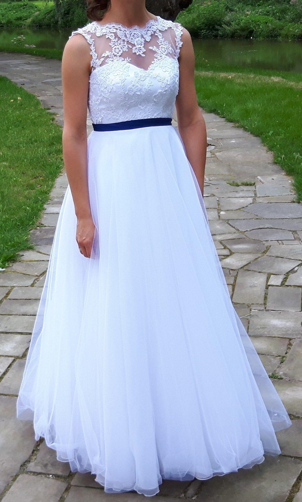 Suknia Slubna 2 W 1 Koronkowa Krotka I Dluga Z Gra 6807768004 Oficjalne Archiwum Allegro Formal Dresses Dresses Wedding Dresses