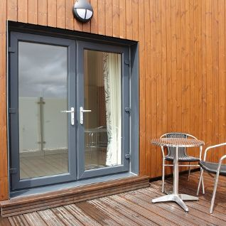 Rehau Acryl Ii Colour Coating Aluminium French Doors Upvc Windows Upvc French Doors