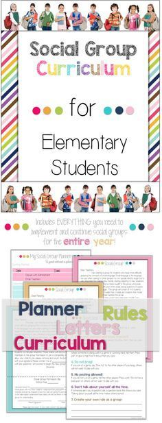 Social Group Curriculum for Elementary School Students | Groups