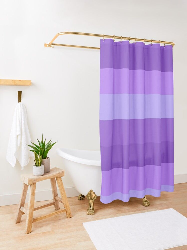Shades Of Purple Stripes Shower Curtain By J Ccreations Ombre Shower Curtain Blue Shower Curtains Patterned Shower Curtain