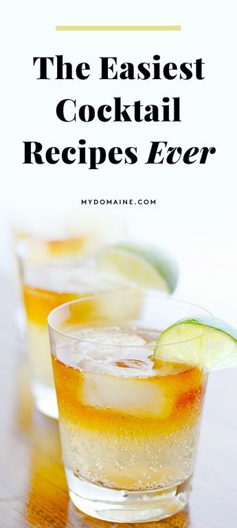 Over Rosé? Mix Up Your Happy Hour With These 2-Ingredient Cocktails #simplemixeddrinks