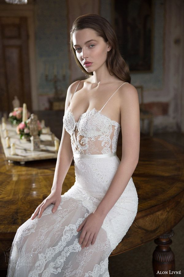 Alon Livne White 2015 Bridal Couture Collection Mermaid trumpet