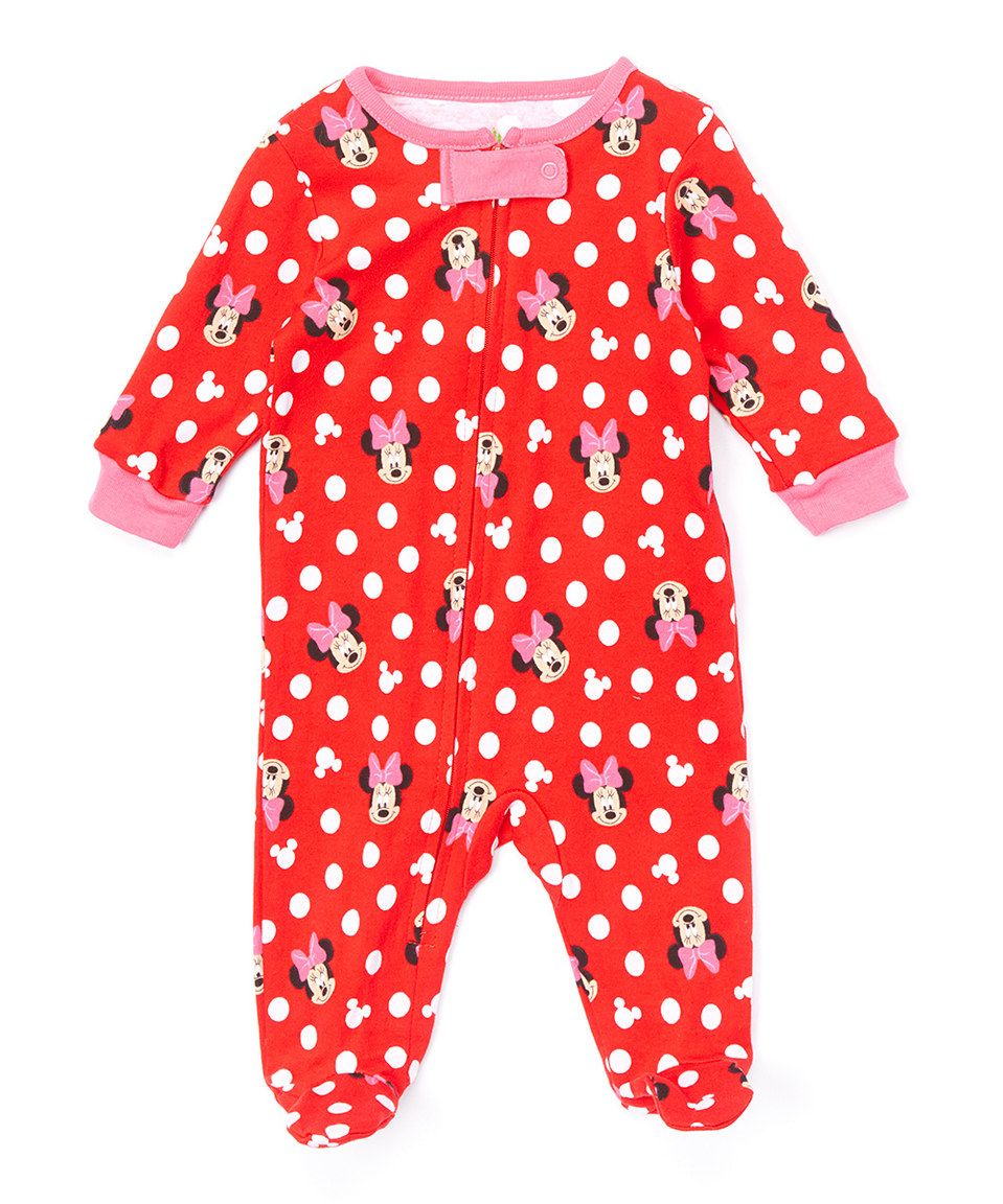 Another great find on #zulily! Minnie Mouse Polka Dot Footie - Infant by Minnie Mouse #zulilyfinds
