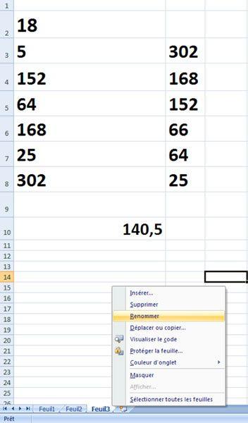Créer un tableauAprès avoir démarré Excel (ou sa version gratuite en - open office spreadsheet