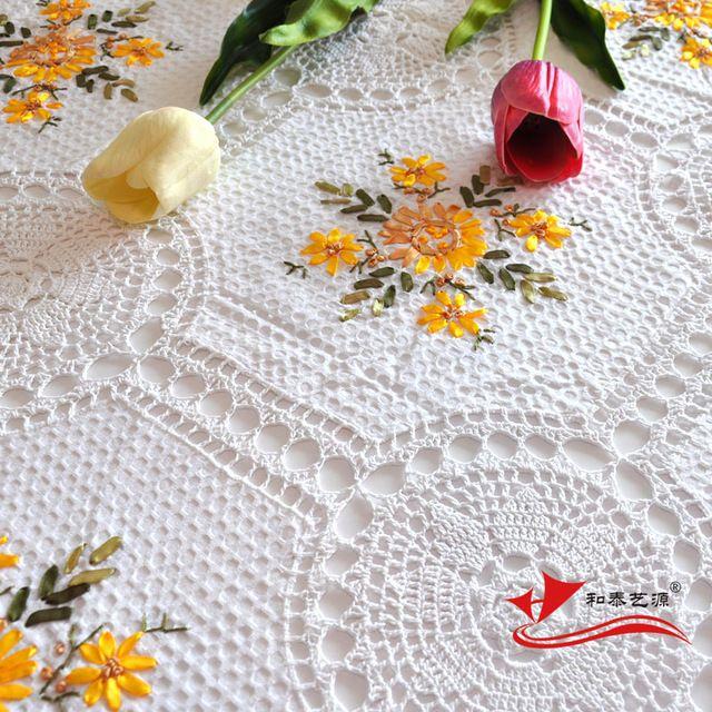 Hetaiyiyuan 50x105 cm jard n continental manteles bordados - Manteles de mesa bordados ...