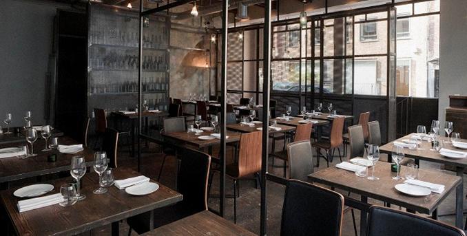 Dabbous Restaurant London. A very cool place to enjoy Matthew Algie coffee.