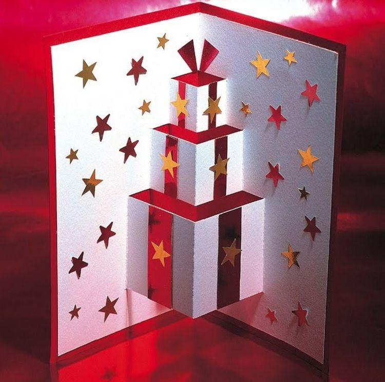 kindern weihnachtskarten basteln 3d effekt geschenke. Black Bedroom Furniture Sets. Home Design Ideas
