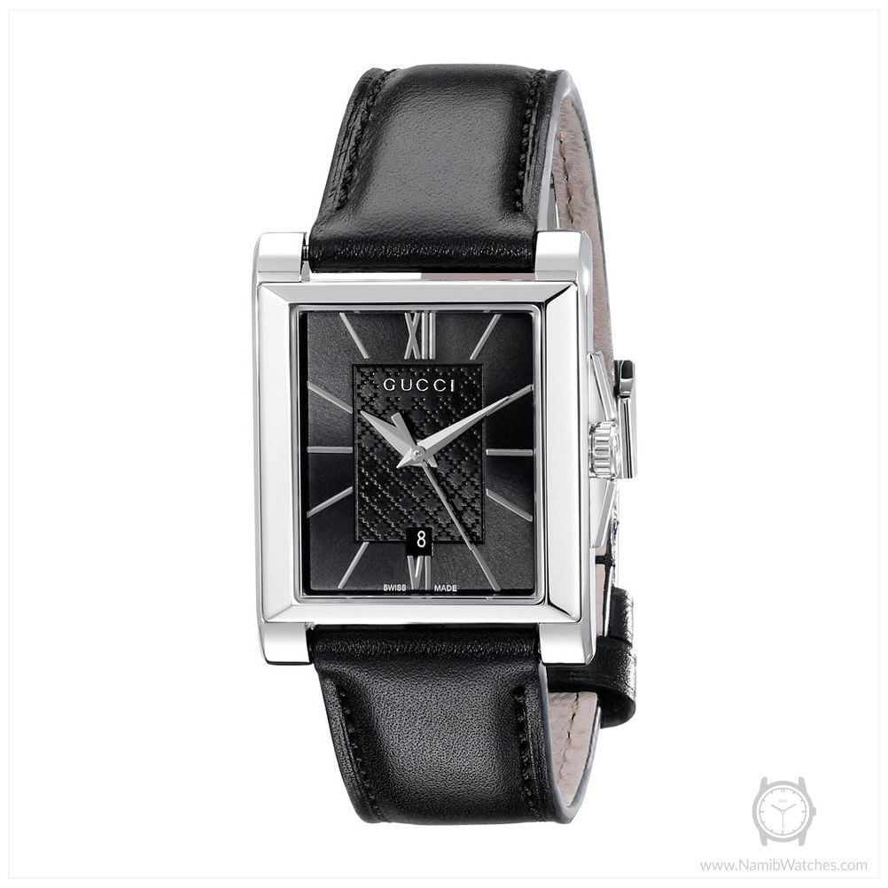a052b70ed88 Gucci YA138503 Gucci G-Timeless Rectangle Analog Display Swiss Quartz Black  Men s Watch