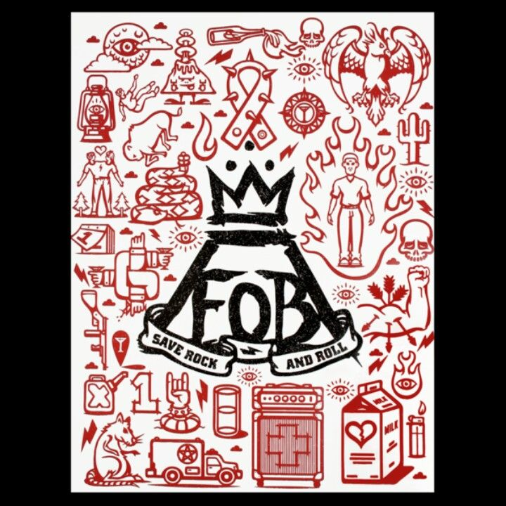 New Fall Out Boy Save Rock Roll Poster Fall Out Boy Symbol Save Rock And Roll Fall Out Boy Poster