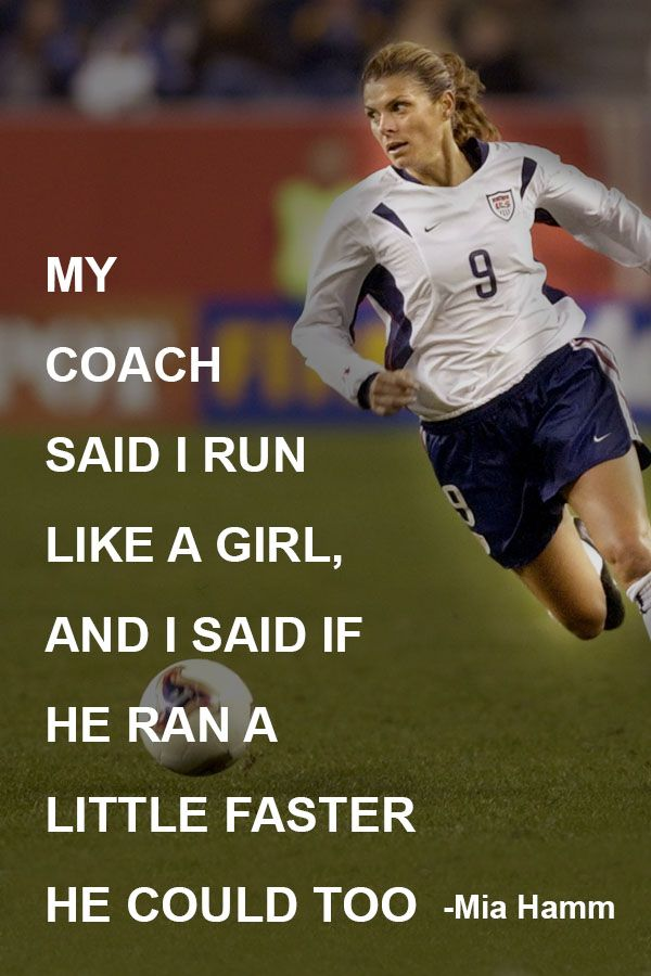 Soccer, mia hamm, quotes, sayings, best player ...  |Mia Hamm Soccer Quotes