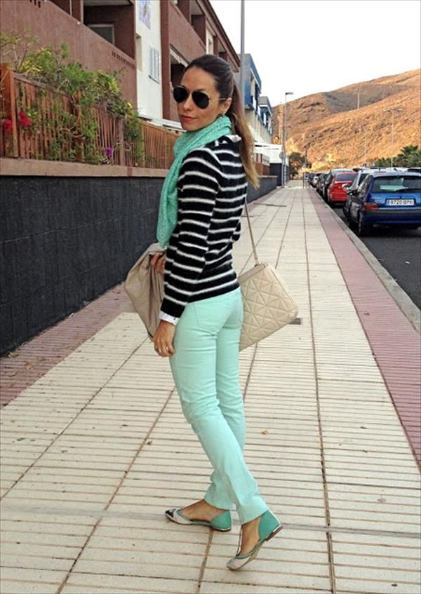 Verde Menta Moda Ropa Outfits Casuales