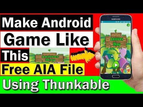 Make Game Without Coding In Makeroid & thunkable With Aia File By