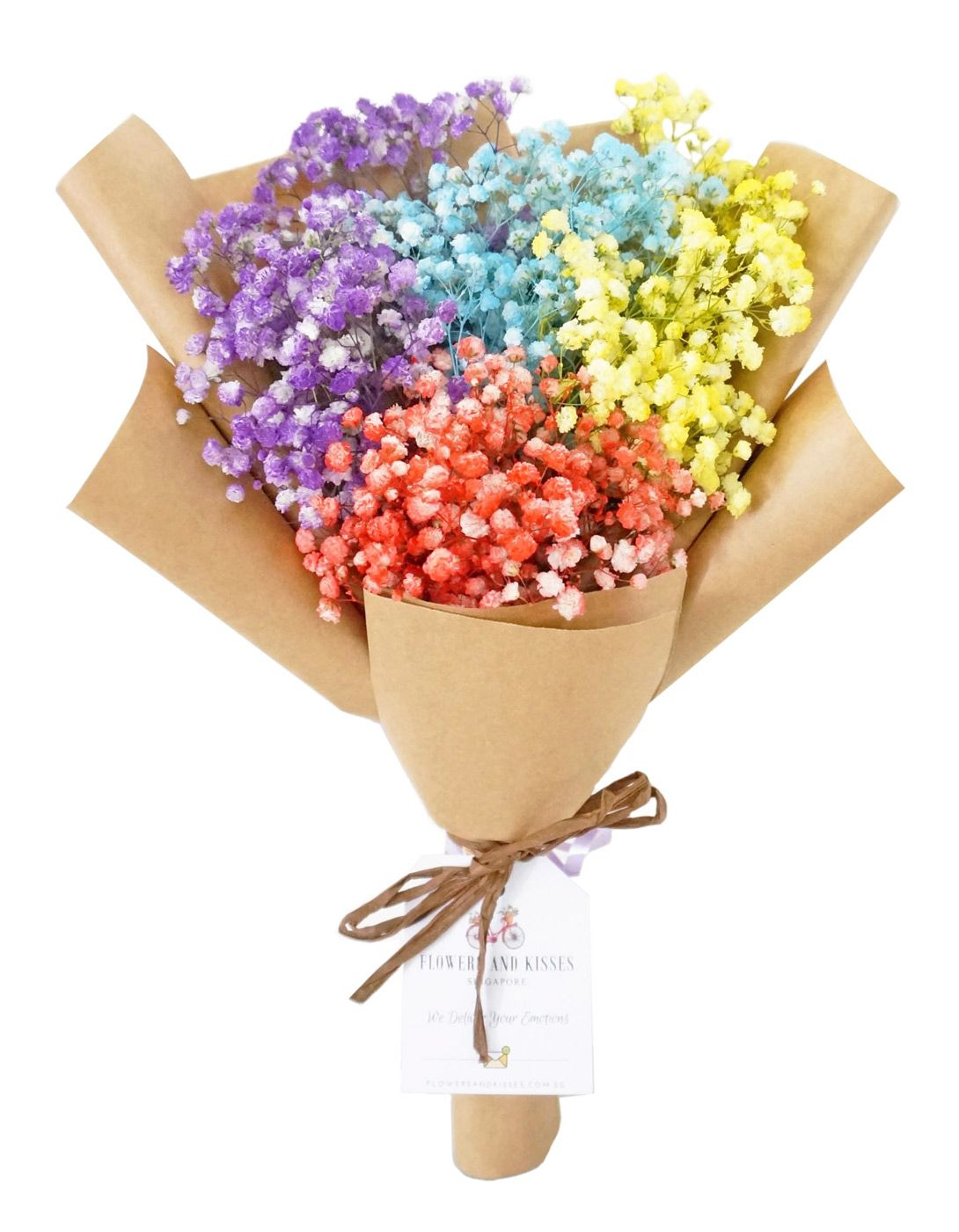 Bring A Splash Of Colour Into Someone S Life With Our Rainbow Baby S Breath Bouquet Every Individual Stalk Babys Breath Baby Bouquet Same Day Flower Delivery