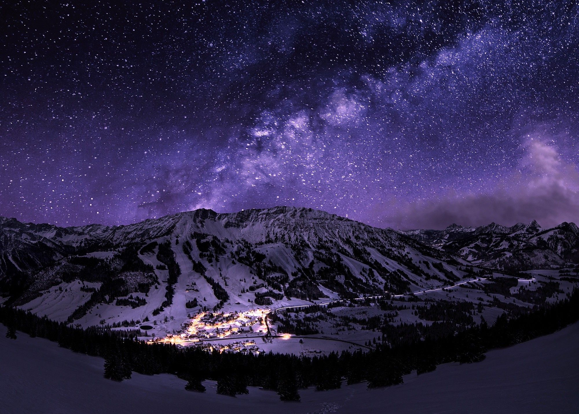 Starry Galaxy Wallpaper Images With Wallpaper High