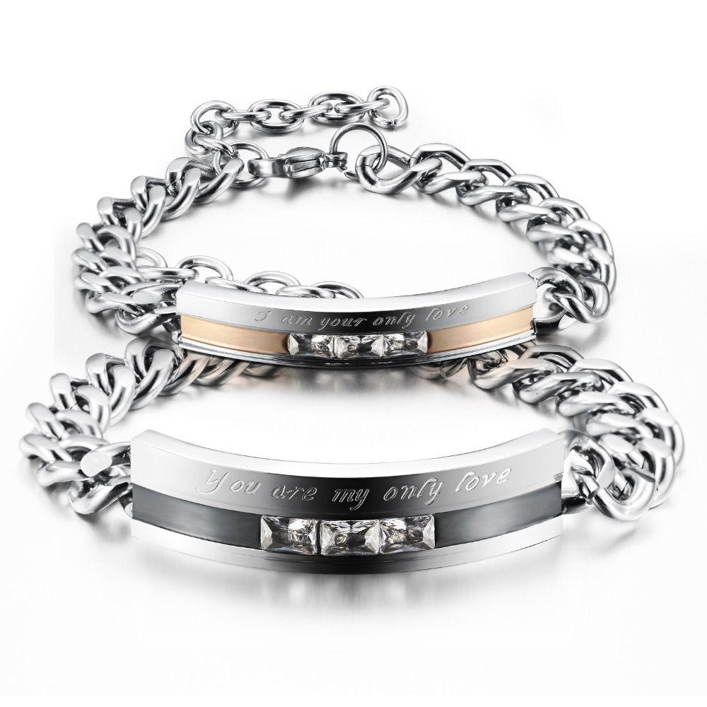 Couple bracelet stainless steel bracelet men women lover luxury