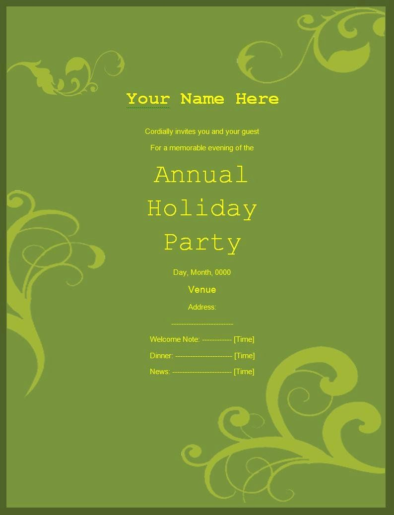 Microsoft Word Invitation Template Free Best Of 5 Free Birthday
