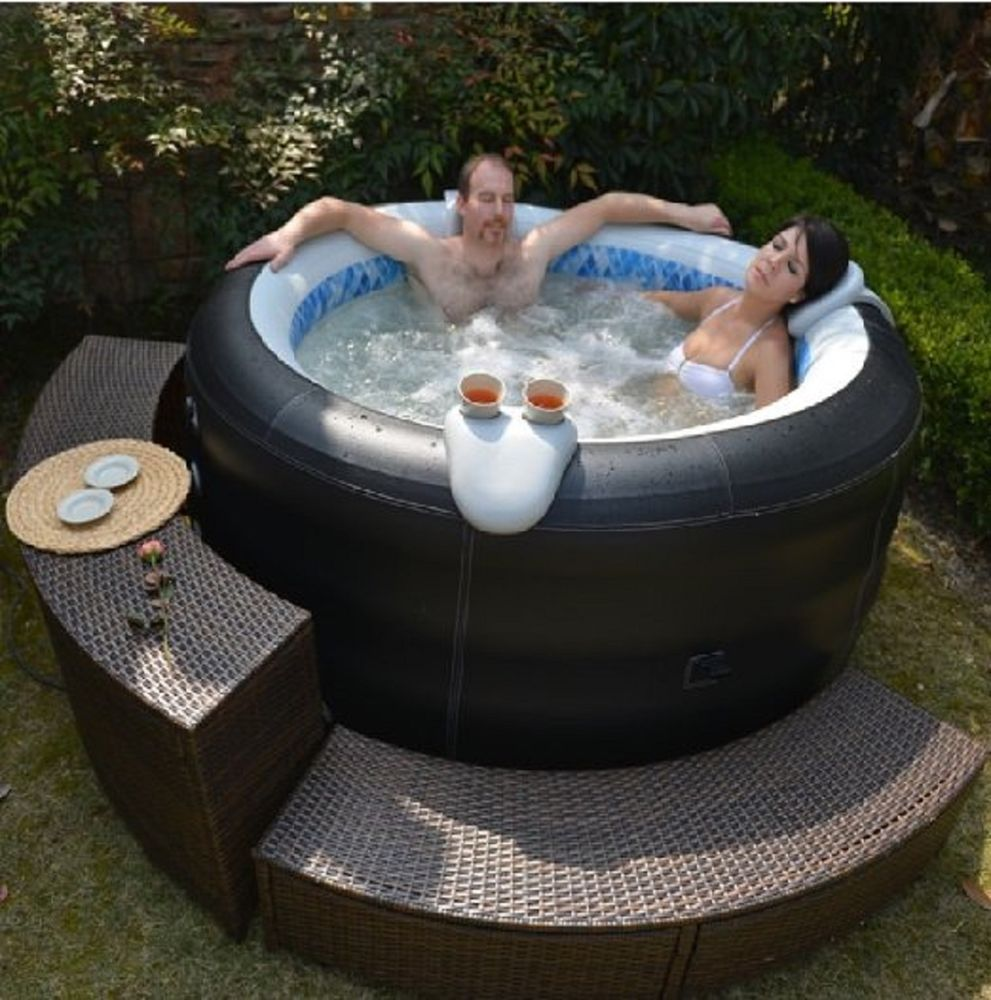 Details About New 4 Person Family Aqua Spa Portable Bubble Jet Inflatable Hot Tub Jacuzzi Hot