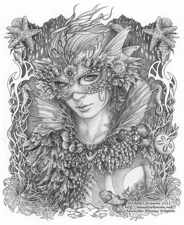 SciFi And Fantasy Art Masquerade WhimSea By Adele Lorienne