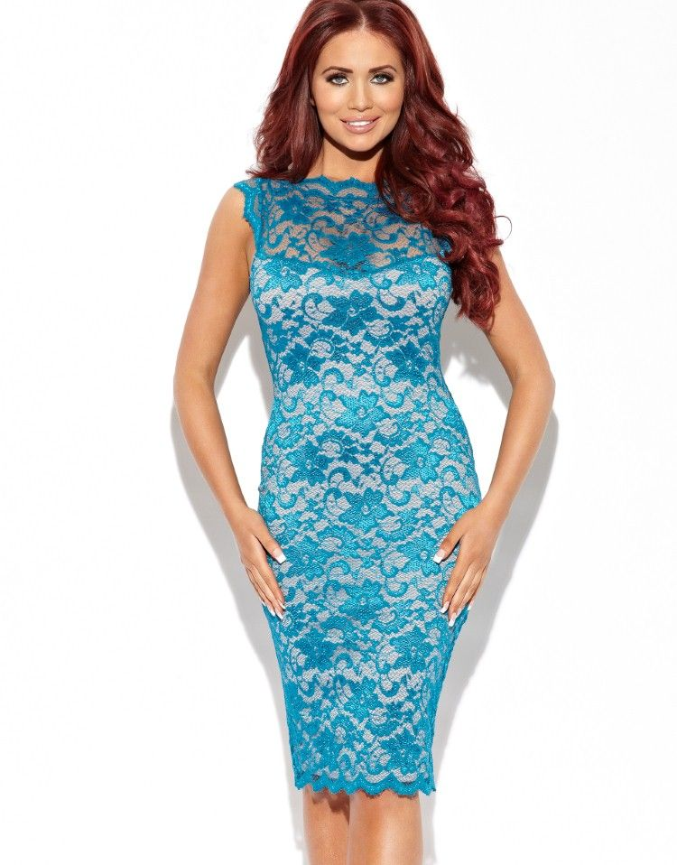 Amy Childs Lexie Sleeveless Lace Bodycon Dress from Lipsy