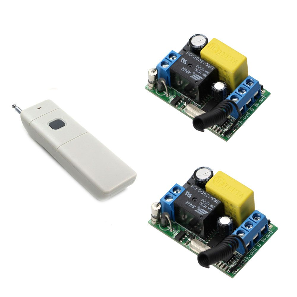 315Mhz 433Mhz AC220V 1CH Relay Receivers with Transmitter