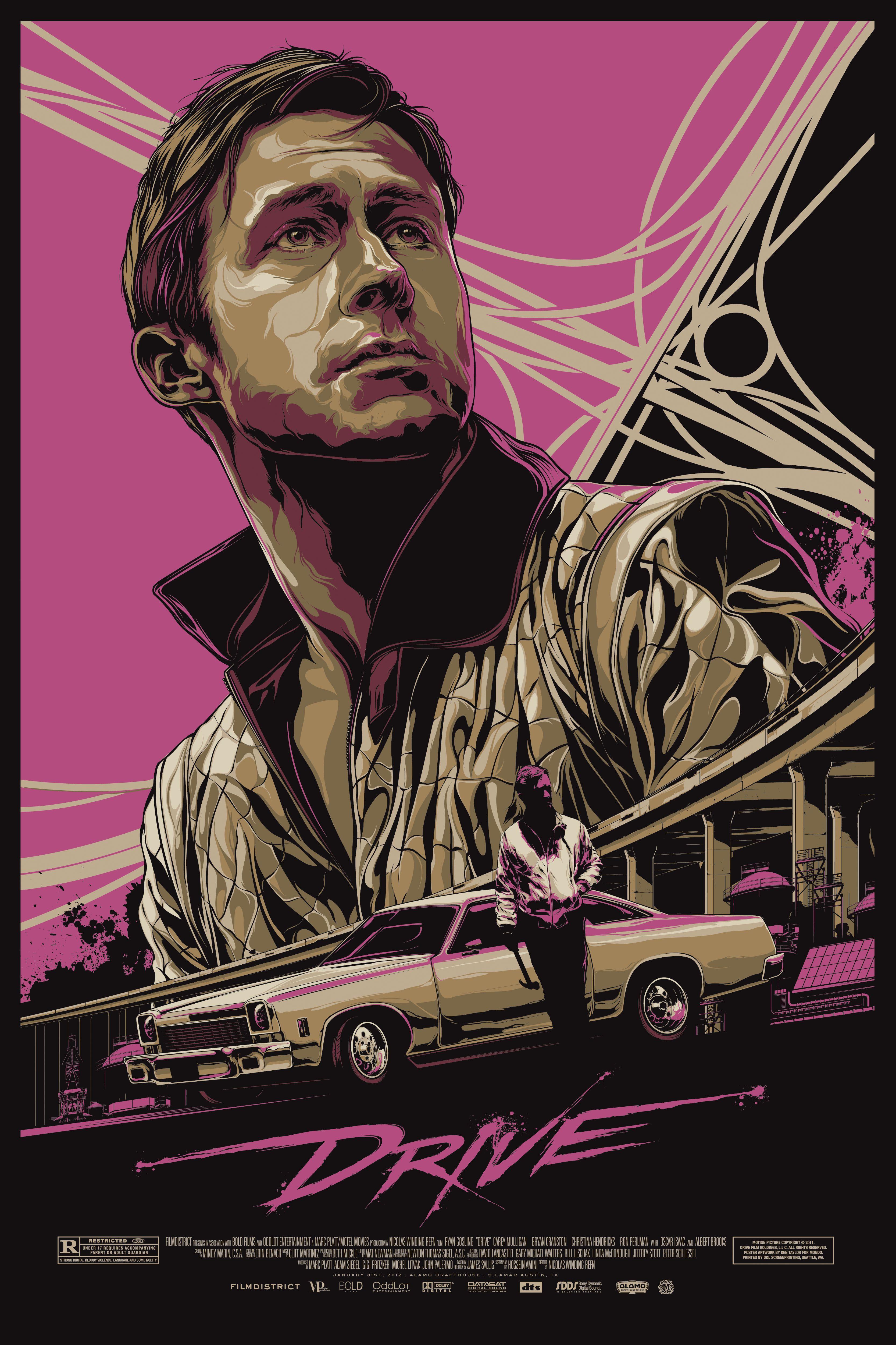 24x36 poster design - Ken Taylor Art Drive Mondo Poster Artist Ken Taylor Edition Size 445