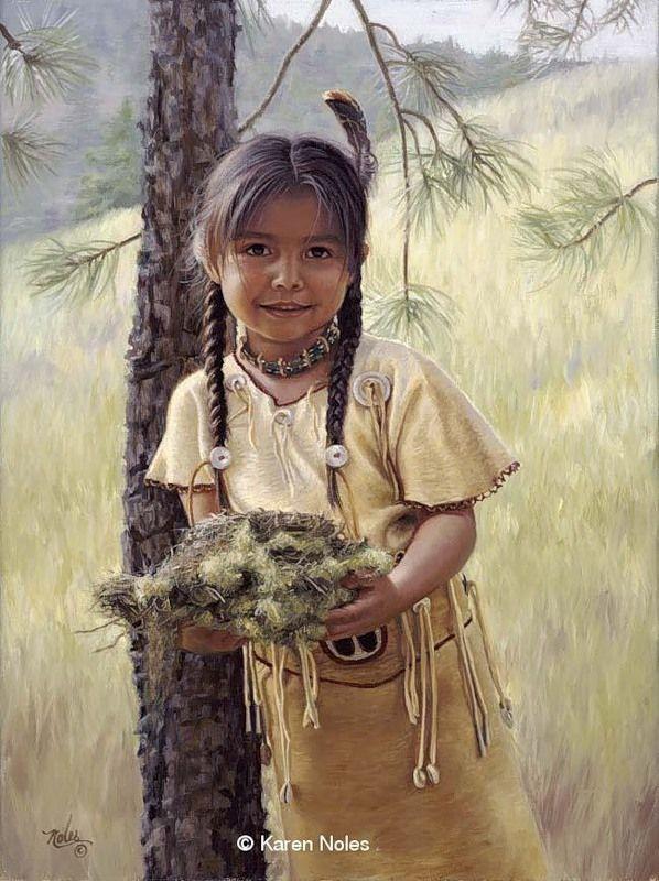 Native American paintings | Karen Noles, 1947 | Tutt'Art@ | Pittura * Scultura * Poesia * Musica |