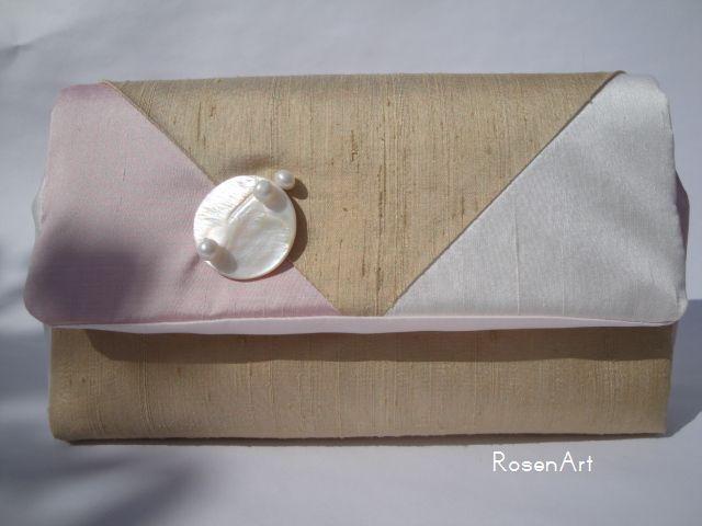 Clutch Seide Envelop von RosenArt auf DaWanda.com