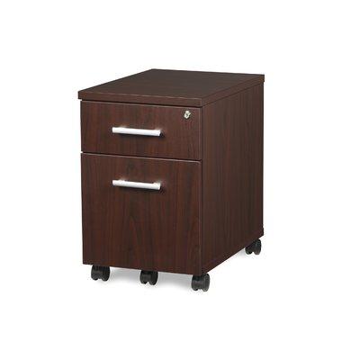 Ebern Designs Gerth Locking Pedestal 2 Drawer Mobile Vertical Filing Cabinet Color Mahogany Filing Cabinet Mobile File Cabinet Lateral File Cabinet