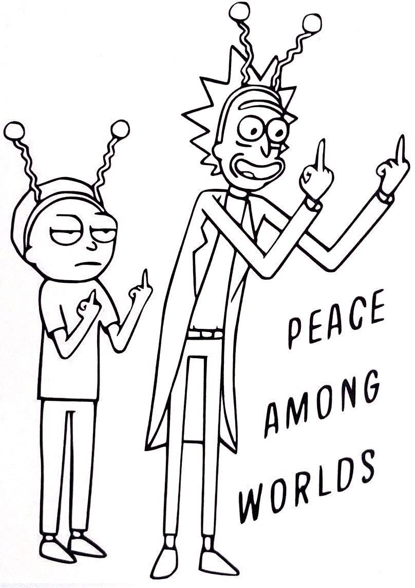 Rick And Morty Peace Among Worlds Icon Cool Vinyl Car