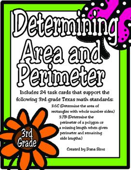 Determining Area and Perimeter: 3rd Grade TEKS 3.6C and 3 ...