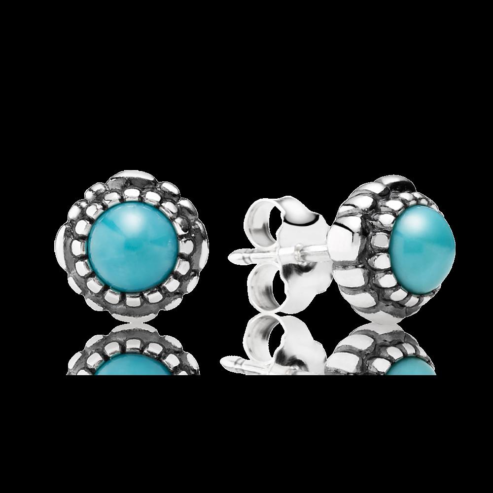 Pandora Birthday Blooms December Turquoise Jewelry