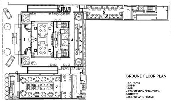 Hotel Fasano Sao Paulo Hotel Floor Plan Hotel Floor Ground Floor Plan