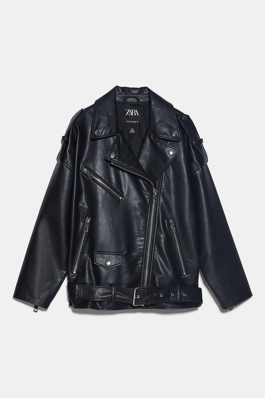 Kurtka Oversize W Stylu Motocyklowym Zara Polska Poland Biker Jacket Jackets Celebrities Leather Jacket [ 1275 x 850 Pixel ]