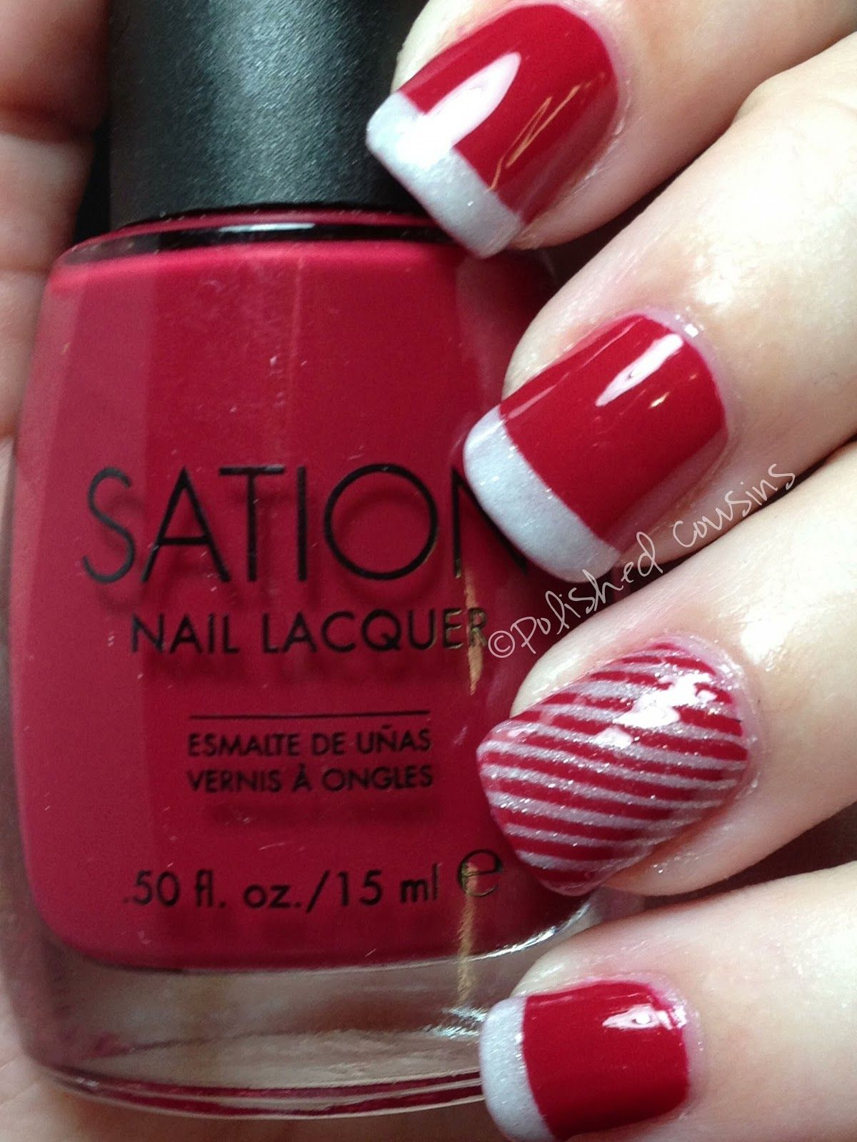 The Red With White Tips Is My Favorite Christmas Nails Holiday Nails Xmas Nails