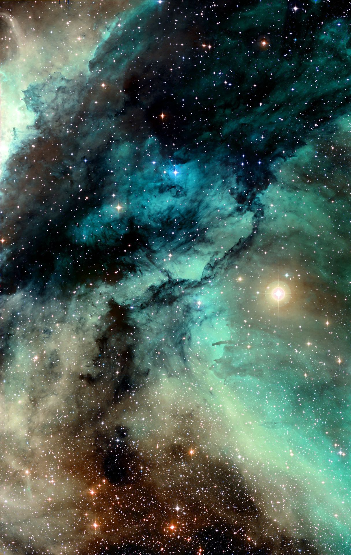 Wolf galaxy. The wonders of the universe, space oddities, stars, planets, cosmos, galaxies, nebulas and cosmic inclinations.