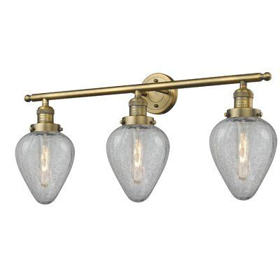 Photo of Brayden Studio Bontrager 3 – Light Dimmable Vanity Light Finish: Brushed Brass